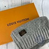 BRAND楓月 LOUIS VUITTON 路易威登 LV M74420 灰毛圍巾 保暖配件 脖圍