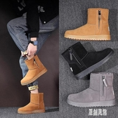 馬丁靴冬季棉鞋男加絨男士雪地靴男鞋中高幫加厚保暖棉短靴子秋季 LR14427【原創風館】