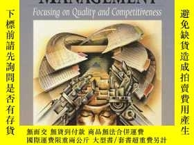 二手書博民逛書店Operations罕見Management: Focusing On Quality And Competiti