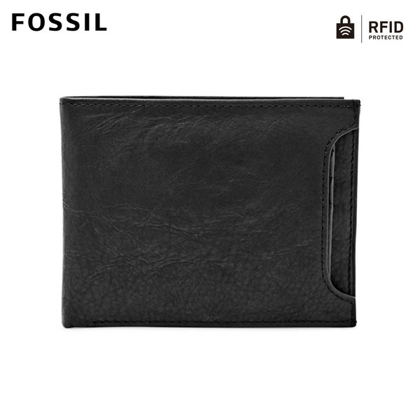 FOSSIL Ingram 黑色真皮二合一RFID皮夾 男 ML3783001