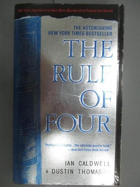 【書寶二手書T3/原文小說_NCJ】The Rule of Four_Jeffrey L. Ward