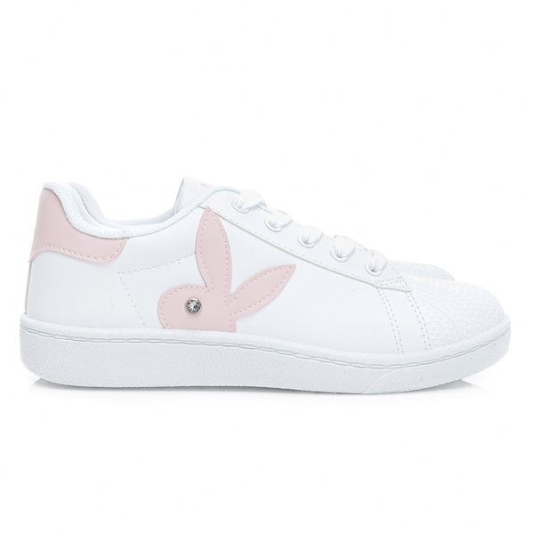 PLAYBOY 簡約兔頭休閒貝殼鞋2.0-白粉(Y6726)