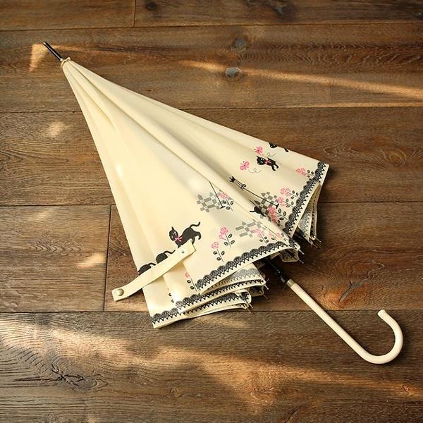 日系小清新長柄傘雨傘可愛女生創意貓咪防風晴雨傘韓國學生自動傘 喵小姐