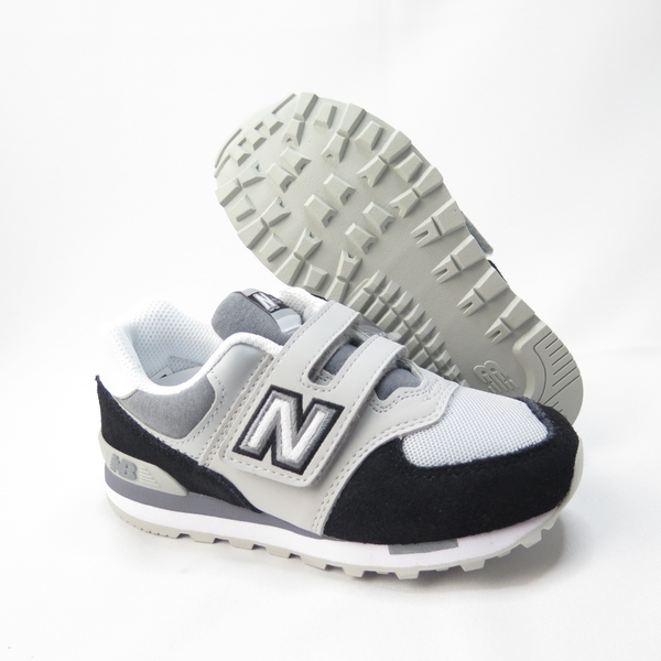 New Balance 復古中童鞋 魔鬼氈 寬楦 YV574NLC 黑色【iSport愛運動】