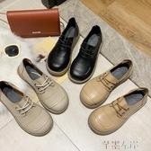 新品娃娃鞋秋季復古森系大頭鞋女蝴蝶結圓頭娃娃鞋厚底鬆糕日系單鞋 芊墨左岸