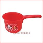 asdfkitty可愛家☆KITTY泰迪熊紅小水瓢/小水勺-小容量.不過重.好拿好握-訓練幼童洗澡-日本正版商品