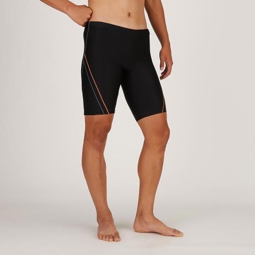 (B6) MIZUNO 美津濃 男 STROKE ONE及膝泳褲 中長 泳褲 N2JB010495黑 [陽光樂活]