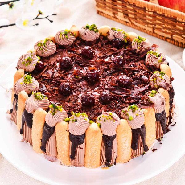 【樂活e棧】母親節造型蛋糕-精緻濃郁黑魔豆盆栽蛋糕(6吋/顆,共1顆)
