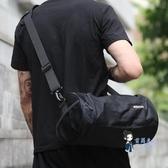 籃球包 健身包男干濕分離運動包小號圓筒斜背包房訓練包籃球背包桶包男包