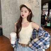 夏季新款韓版百搭修身外穿內搭純色短款針織小吊帶背心女 麥琪精品屋