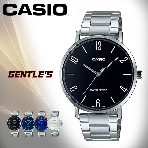 CASIO手錶專賣店 MTP-VT01D-1B2 簡約時尚男錶 不鏽鋼錶帶 日常生活防水 MTP-VT01D