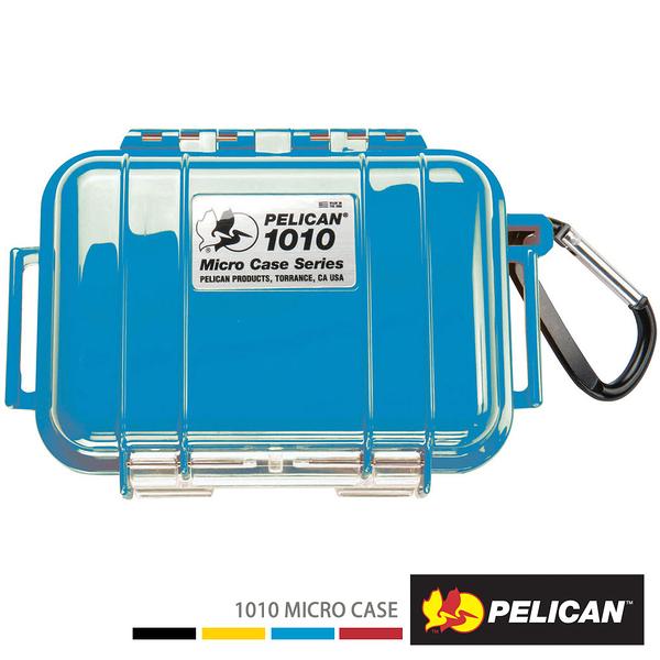 美國 PELICAN 1010 Micro Case 微型防水氣密箱-(藍) 公司貨