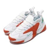【海外限定】Nike 休閒鞋 Wmns Zoom 2K 白 橘 女鞋 運動鞋 復古慢跑鞋 【PUMP306】 AO0354-105