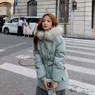 梨卡 - 短款保暖毛領鋪棉外套短大衣-造型毛領保暖加厚防風風衣鋪棉外套大衣-FR001