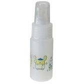 小禮堂 布丁狗 隨身透明噴霧空瓶 塑膠噴霧罐 酒精噴瓶 分裝瓶 30ml (黃 洗澡) 4548387-19635