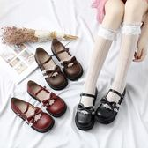 娃娃鞋夏季新品原宿學院風洛麗塔LOLITA軟妹小皮鞋蕾絲花結娃娃鞋 【四月新品】