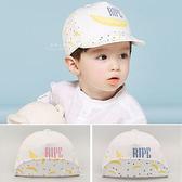 童帽 鴨舌帽 英文刺繡香蕉軟簷棒球帽