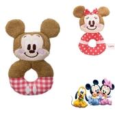 尼德斯Nydus   迪士尼米老鼠米奇米妮嬰兒安撫玩具手搖鈴絨毛玩偶