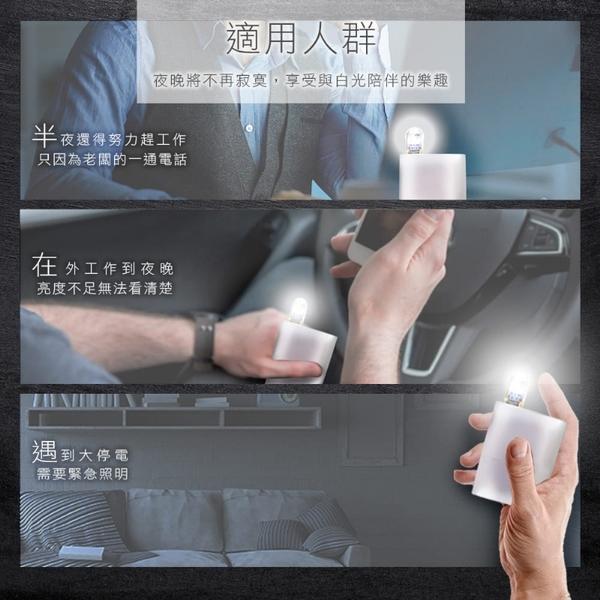 HANLIN-USB001~超迷你USB雙面透明LED燈