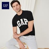 Gap男裝 Logo圓領短袖T恤 443765-正黑色