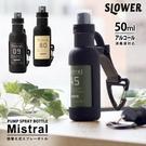 日本SLOWER 登山扣式噴霧瓶(長型/50ml) 防疫攜帶式附掛勾噴霧瓶