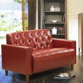 沙發 皮沙發 美式拿鐵-百年經典復古雙人沙發125cm-兩人座皮沙發-$4999-酒紅色/黑色-兩色
