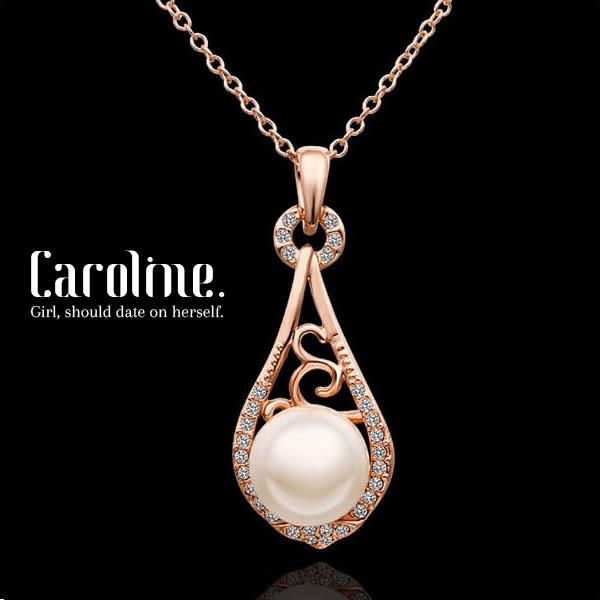 《Caroline》★甜美魅力、高雅大方設計配飾流行時尚玫瑰金項鍊68854