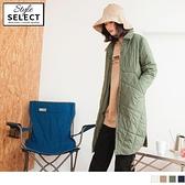 《KG0906》防潑水鋪棉大口袋高領長版外套 OrangeBear