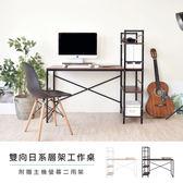 《Hopma》日系層架工作桌(附主機架)-二色可選