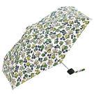 日本KIU 31050 絢爛夏花雨 輕巧摺疊雨傘/抗UV陽傘 附收納袋(男女適用)