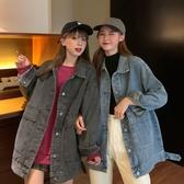 秋季2020新款韓版牛仔外套女寬鬆bf百搭學生原宿復古港風長袖上衣 浪漫西街