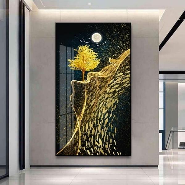 40*70*9mm 北歐玄關裝飾畫客廳背景墻壁畫現代簡約走廊過道掛畫【輕奢時代】