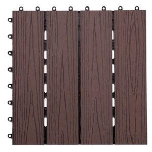 塑木地板 30x30cm 灰色 9入