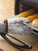 兔子加厚烤箱專用隔熱防燙手套廚房家用耐高溫微波爐烘焙防熱手套 霓裳細軟
