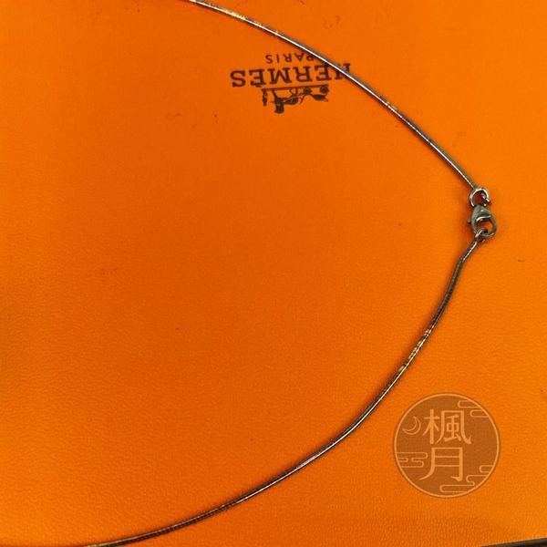 BRAND楓月 HERMES 愛馬仕 粉X玫瑰金 金鍊 H LOGO POP 項鍊 硬鍊 飾品 配件