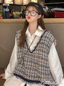 夏季新款小香風時尚V領寬鬆百搭時尚氣質流蘇無袖馬甲女學生 范思蓮恩