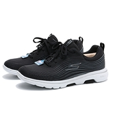 SKECHERS 健走鞋 GO WALK 5 黑 網布 線條 綁帶 運動 健身 女 (布魯克林) 124009BKW