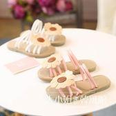 2018夏季新款兒童拖鞋女童可愛小公主花朵一字拖涼鞋潮女童涼拖鞋-大小姐韓風館