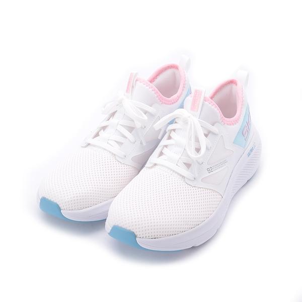 SKECHERS 慢跑系列 GORUN ELEVATE 休閒運動鞋 白藍粉 128317WPK 女鞋