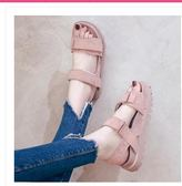 厚底涼鞋鬆糕鞋涼鞋女學生夏季女鞋子韓版原宿風平底百搭女鞋
