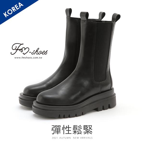 靴.厚底切爾西中筒低跟靴-FM時尚美鞋-韓國精選.In good shape