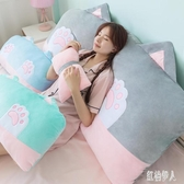 可愛女枕頭床頭板軟包靠墊沙發大靠背公主榻榻米床上靠枕可拆洗 PA11924『紅袖伊人』