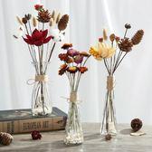 干花花束家居擺設小清新果殼棉花兔尾蘆葦蓮蓬裝飾插花瓶擺件客廳 露露日記