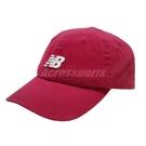 New Balance 帽子 Logo Baseball Cap 紅 白 男女款 老帽 棒球帽 運動休閒 【ACS】 LAH91014NCR