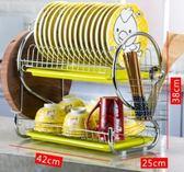 刀架碗架瀝水碗碟盤子架晾洗放碗櫃用品餐具碗筷收納盒廚房置物架 愛麗絲精品