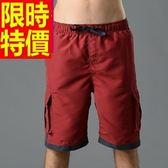 海灘褲-防水衝浪陽光戲水風靡休閒男短褲子2色54q1[時尚巴黎]
