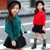 女童兩件套裙韓版女童秋裝女小女孩兒童秋毛衣裙子套裝 zm7998『俏美人大尺碼』