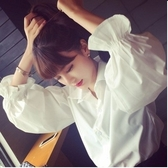 【HN07 】小清寬松襯衫女裝長袖娃娃衫可愛蓬蓬襯衫燈籠袖上衣學生荷葉邊