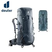 丹大戶外【Deuter】德國 50+10L拔熱式透氣背包 深灰黑、深灰藍 3340521 登山包│健行包│後背包
