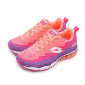 LIKA夢 LOTTO 編織氣墊慢跑鞋 WAVE KNIT 2 系列 粉橘紫 5297 女